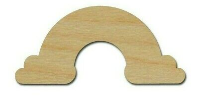 Rainbow Shape Wood Cutout Unfinished DIY Crafts Variety of Sizes Made In USA - Diy Wood Crafts