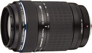 Olympus four thirds zoom lens 70-300mm with filter