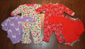 0-3M Baby Christmas Clothing Lot (all for $3)