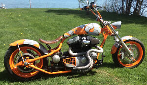 Hardtail Custom Chopper from Buell Cyclone M2 (Harley Davidson)