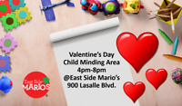 Valentine's Day Child Minding Area