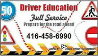 DRIVING INSTRUCTOR,ROAD TEST in1-2 DAY,Driving SCHOOL,CERTIFICAT