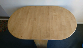 Fold up pine table and 4 chairs