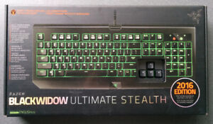 New Razer Blackwidow Ultimate Stealth 2016 Backlit Mech Keyboard