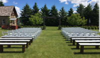 White Wimbledon Wedding Chairs for Rent