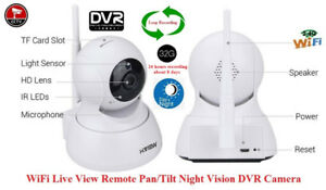 Security WiFi Live Monitoring Night Vision Pan/Tile DVR Camera