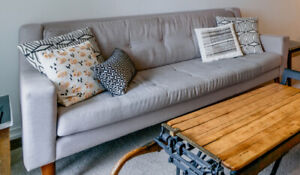 3 Seater Couch - EQ3 - Light Grey Mid Century Modern Style