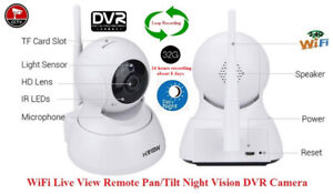 Security WiFi Live Monitoring Night Vision Pan/Tilt DVR Camera