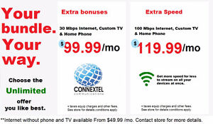 Unlimited Internet TV & Phone from $99 PBX Barrie rent lease buy