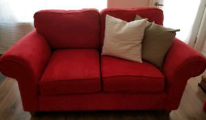 Lovely red sofas for sale