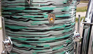 Custom Vintage Drums in Mint Oyster Glitter, Maple/Mahogany