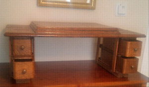 Old sewing machine top $30