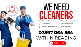 Urgently required * experienced * cleaners.