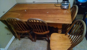 Used Dining Table and 4 Chairs - $80 OR Trade