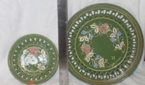 Large and Small Folk Art Plate