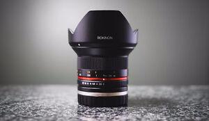 Rokinon 12mm F/2.0 E-Mount // COMME NEUVE // NÉGOCIABLE