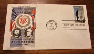 TWO 1965 Appomattox Civil War Centennial 5 Cent First Day Covers Kitchener / Waterloo Kitchener Area image 3