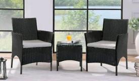 3 piece rattan furniture set outdoor garden