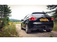 Black Audi A3 S Line 2L turbo diesel (p/x golf gti S3)
