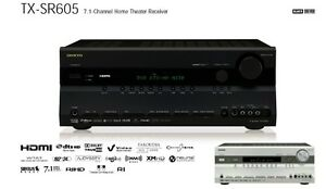 """TX-SR605 7.1-Channel Home Theater Receiver w/Sanyo 10"""" 3-way spe"""
