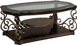 Clermont Coffee Table with Casters (PRICE UP FOR NEGOTIATION)