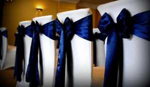 45 Navy blue chair sashes for a wedding-$30