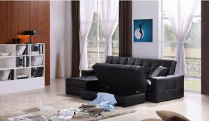 BOXING DAY SALE PULL OUT LEATHER SOFA BED