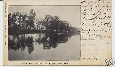 NORTH SIDE OF THE FOX RIVER, OMRO, WIS. WI. WISCONSIN