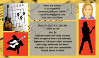 Private Guitar Lessons in Your Home