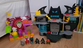 Imaginext Batcave and Joker laff Factory.