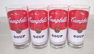 Anchor Hocking Campbell's Tomato Soup Juice Collectible Glass