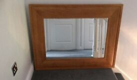 Very large wooden mirror