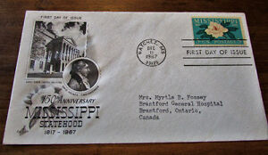 1967 150th Anniversary Mississippi Statehood First Day Cover Kitchener / Waterloo Kitchener Area image 4