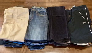 26 Pairs of Boys Pants, Sizes 10-14 -in Excellent Condition!