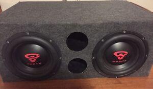 Planet Audio amps/ Cerwin Vega pro Ed. Subs custom box, 5.0 capa