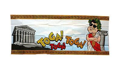 Toga Party Roman Greek Birthday Theme Frat Decoration Giant Plastic Sign Banner