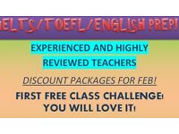 UK's best for TOEFL/IELTS/SAT (money back guarantee) /£13-£18 per hour