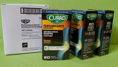 ( 60 ) Curad 5020 Performance Series Antibacterial Bandages 1