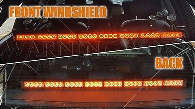 Warningworx Amber High Intensity Led Light Bar 36 Traffic Windshield Strobe