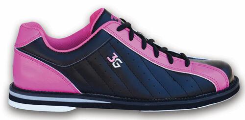 3G Kicks Black/Pink Womens Bowling Shoes