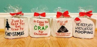 Toilet Paper Gag Gift In Case you get Crap for Christmas White Elephant Gift Fun