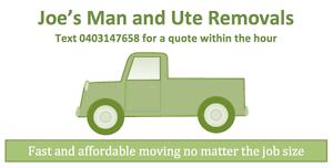 Joe's Man and Ute Removals Paddington Brisbane North West Preview