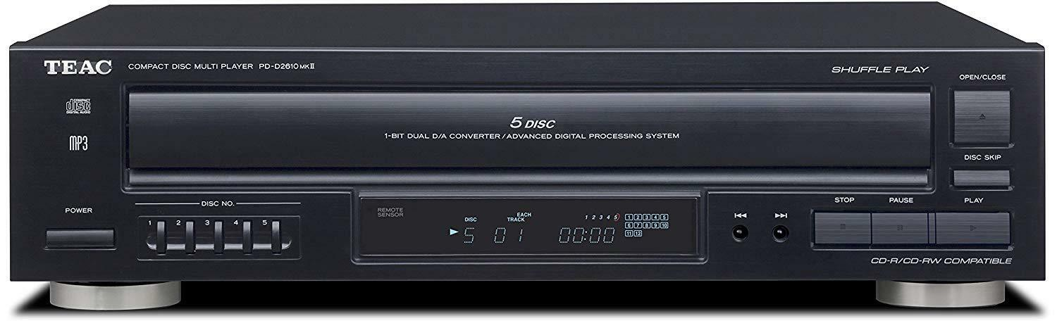 Teac 5-Disc Carousel CD Player w/ Remote 12-PD-D2610MK2 w/ T