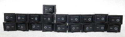 Urbest 19 Pcs Black 4 Pin On-off 2 Position Dpst Boat Rocker Switches 10a125v
