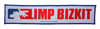 "SS ""LIMP BIZKIT"" MLB Band Logo Nu Metal Rap Music Woven Sew On Applique Patch"
