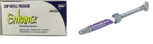 Dentsply Prisma Gloss Composite Polishing Paste & Enhance Finishing Cup Combo