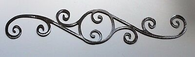 "Decorative Scroll  12"" Metal Wall Art Decor Silver"