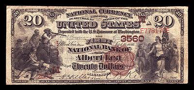 $20  1882 BB  The FNB of Albert Lea, Minnesota  CH# 3560 - Tough Brown Back