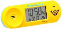 SEIKO clock 05: Rilakkuma (yellow) alarm clock radio wave digital CQ147Y