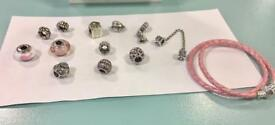 Genuine pandora bracelet and charms for sale